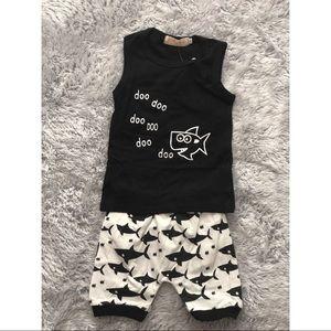 Baby Shark Tank Short Set 6-12 Months